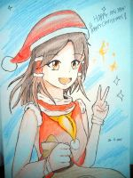 Reimu/ Christmas!! by Kh3mm4