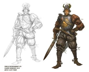 Warhammer Fantasy Roleplay - Cavalryman by ScottPurdy