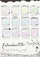 Literature Calendar 2014 // Free printable ^.^ by electrifried