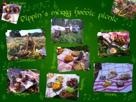 Pippins merry hobbit picnic by geekySquirrel