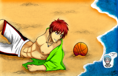 Come get a little tanned, Kuroko... by EstelaBA