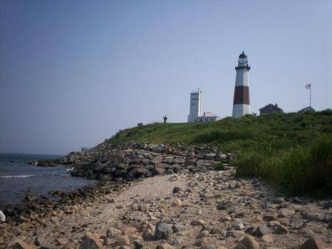 Montauk Lighthouse and Shore by KittyRose