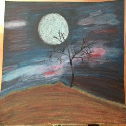 Nightscene (oil pastel) by TheMistress101