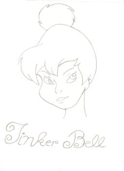 uncolored tinkerbell by Midnight-fanpyre
