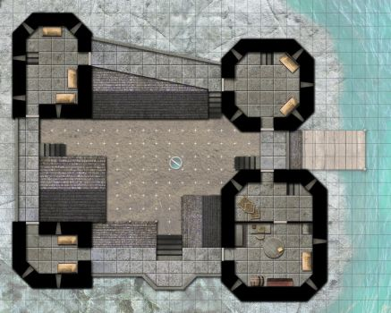 Saltwatch Keep, 2nd Floor by Araknophobia