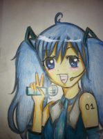 My attempt at drawing Hatsune Miku! by Obscuriousity