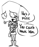 ZaDr:He's mine you can't have him by Glitched-Irken