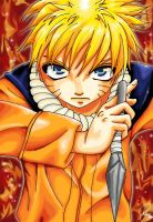 naruto on fire by Hilaya