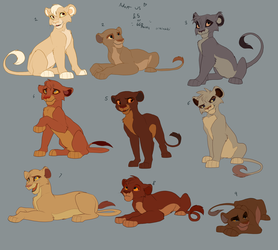 Lion King Cub adoptables-POINTS OR MONEY- by Kitchiki