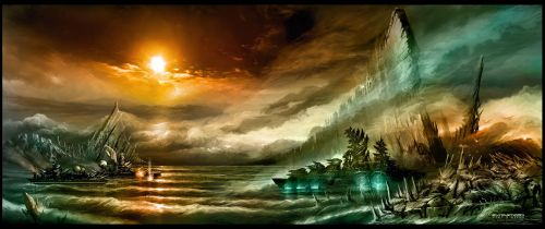 The Sea of Ruin by alexiuss