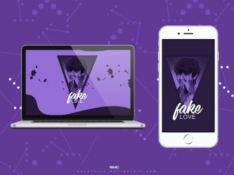 Taehyung - Fake Love Wallpaper by Purplairy