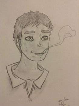 Man smoking by CupcakeCarmen123