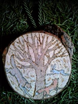 Ai Vist Lo Lop Woodburning by VoceDelBosco