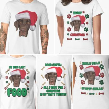 Funny Chocolate Labrador Christmas Shirts And More by Kittylover9399