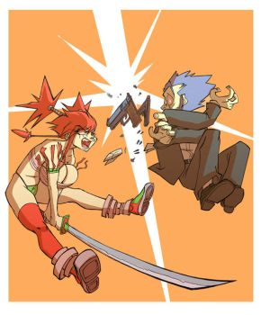 Sword VS Gun by Balak01