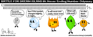 BFDI in: Never Ending Number Odyssey by jakelsm
