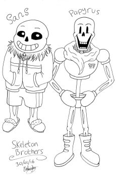 Skeleton Bros by YellowDizzyLombax
