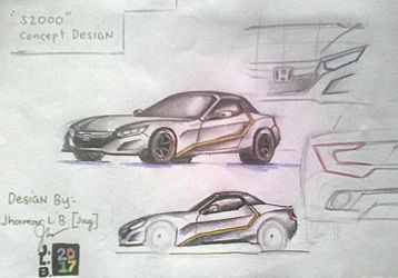 Honda S2000 Concept 2017 (Repaired) by SammfeatBlueheart