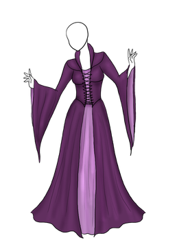 Purple Elven Gown Adopt [sold] by Captain-Savvy