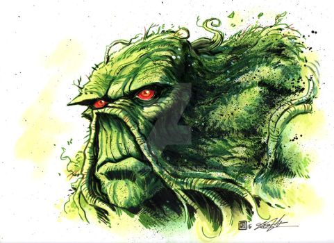 Swamp Thing Commission by timshinn73