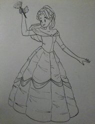 Belle Sketch by leafpoolTC