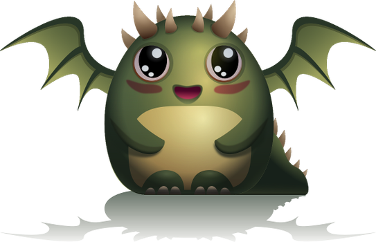 Kawaii Dragon Hatchling /vector art by RGBfumes
