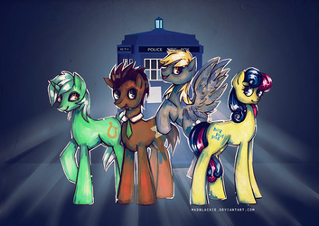 There's no time to explain, get in the Tardis by MadBlackie