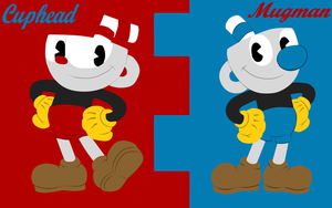 Wallpaper Cuphead and Mugman by Anavinnik