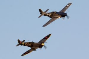 Spitfire and Mustang by Daniel-Wales-Images