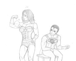 Commission: Wonder Woman's stronger too Pt.1 by CMGjim