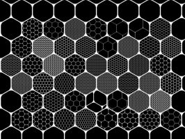 72 hexagonal patterns for gimp by SideWindeRartWorK