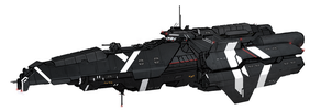 UNSC Thanatos destroyer by Kwibl