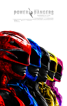 Power Rangers  (2017) - Poster by CAMW1N
