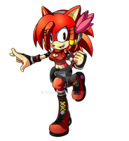 Scarlet the Red Hedgehog by YukiCos