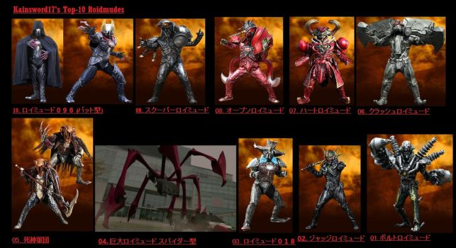 Top 10 Roidmudes by Kainsword-Kaijin
