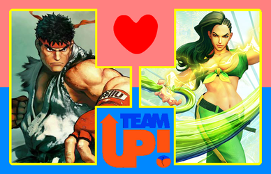 Team Up + Couple ~ Ryu and Laura by 4xEyes1987
