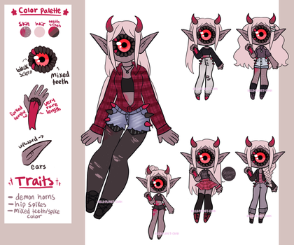 [Reference sheet] - Opalina by hello-planet-chan