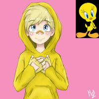 Tweety (Gijinka) by Meloewe