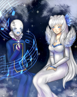 Sharing a Song|Art Trade by Flotts