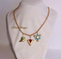 #1 Custom made Spiritual Stones Necklace Zelda OoT by TorresDesigns