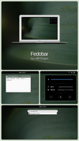 Fedobar (GNOME-like Rainmeter Taskbar Replacement) by milKShape