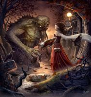 Witch and Monster by DusanMarkovic