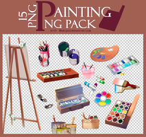 Painting png pack | 15 png by 18arqan