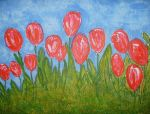 tulips in spring by ingeline-art