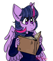 Book nerd Pony by Mythical-Things