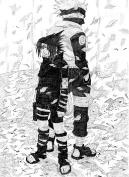 Sasuke and Kakashi by x-Akam