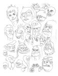 Rock Monsters head studies by johndevilman