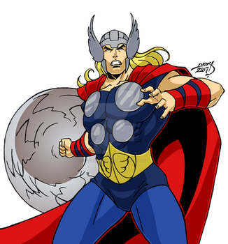 Thor 2017 COLORED by LucasAckerman