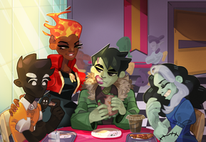 MONSTER PROM CAFETERIA by HolyMisha