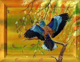 European Roller. Autumn. by Oladara